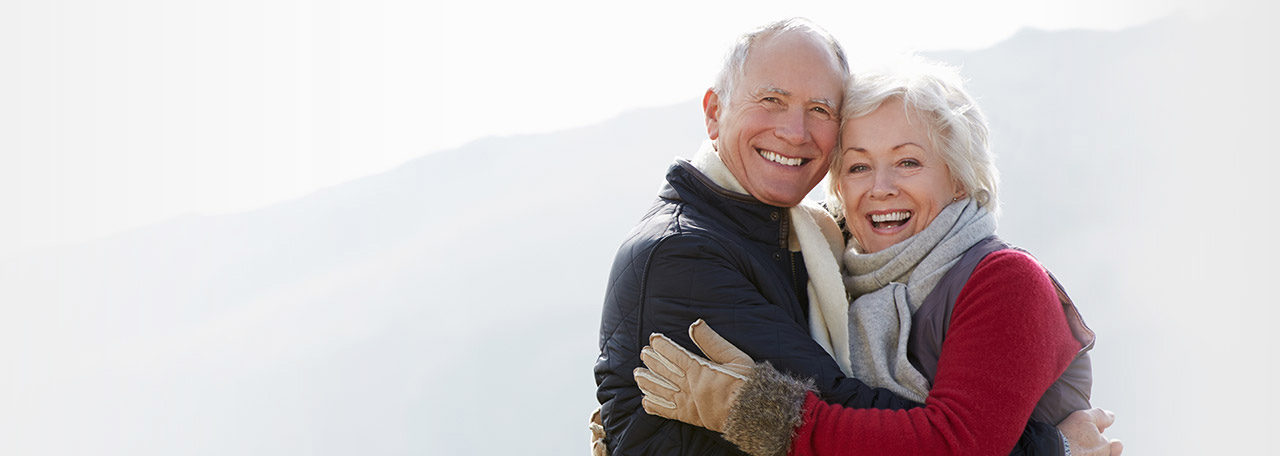 older couple on a mountain