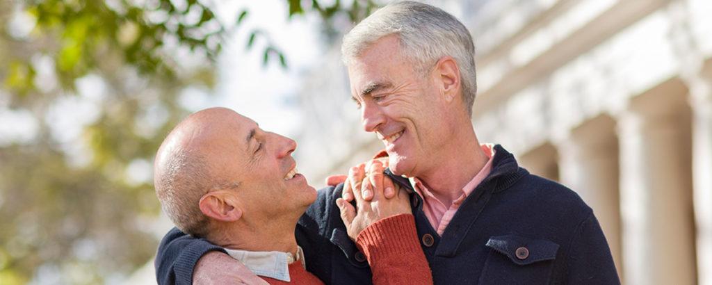two older gay men together