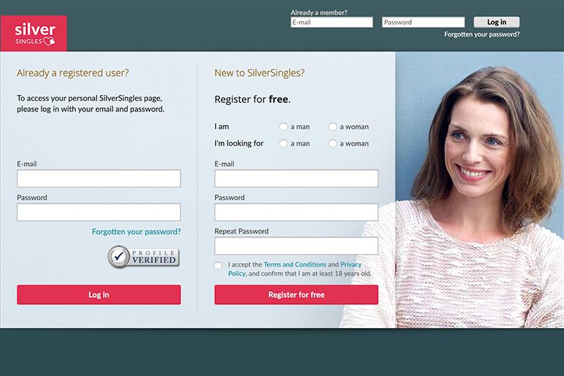 SILVERSINGLES registration